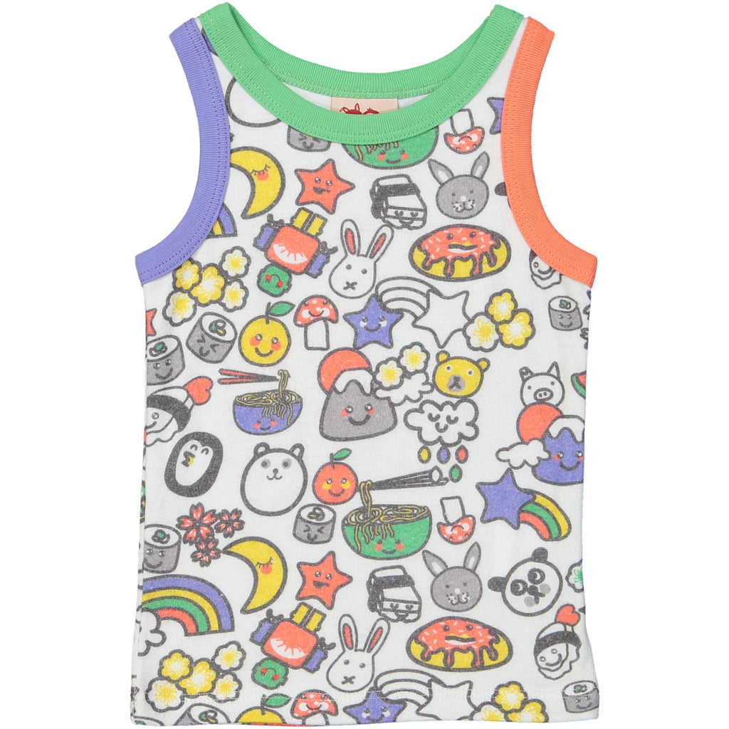 TOKOYO All over printed Tootsa Tots Vest Top/White
