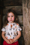 NOVA SCOTIA All over printed baby Tots T-shirt/Vanilla Ice (Totem poles)