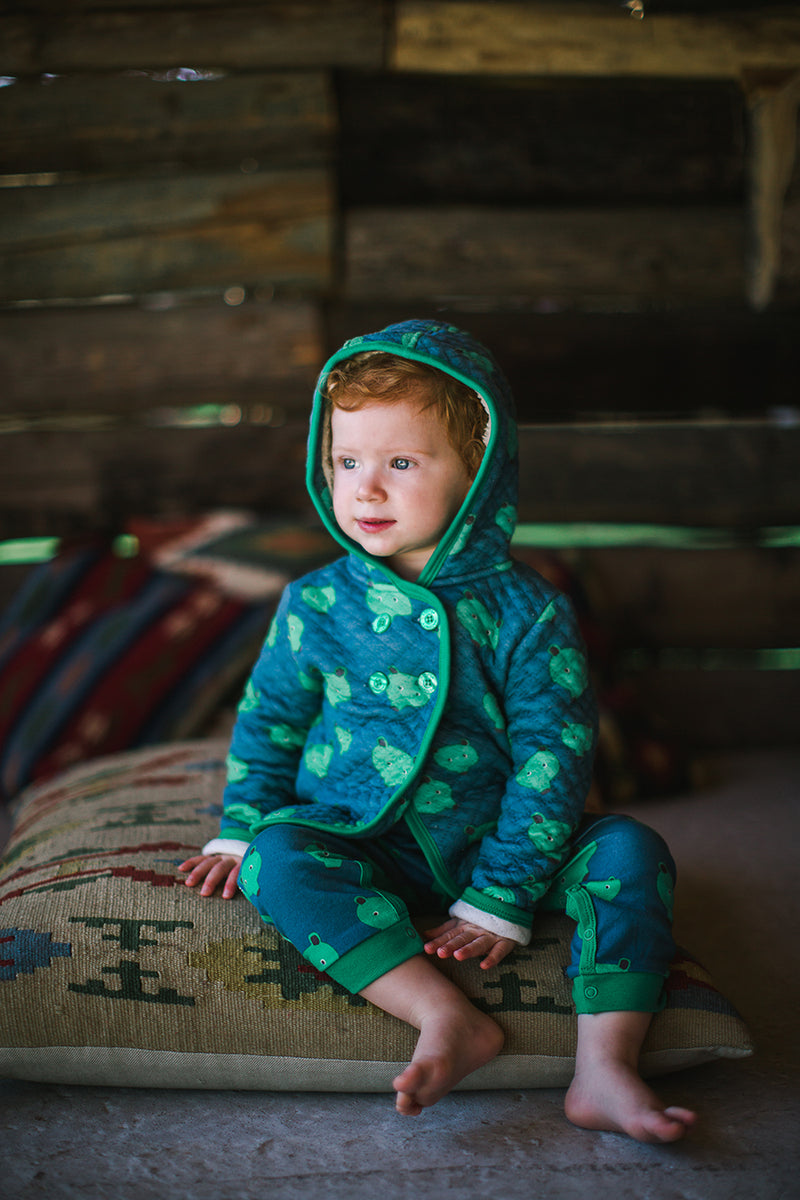 YUKON Tootsa Tots Quilted Hoody/Stormy (Bears)