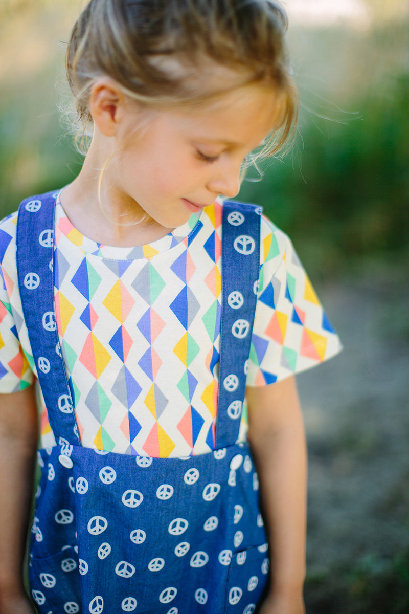 ORIGAMI All over printed Tootsa Tots T-Shirt/Multi