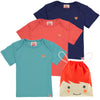 ESSENTIAL Baby Unisex Organic Cotton T-shirts (Pack of 3)/Navy, Bright Red, Teal