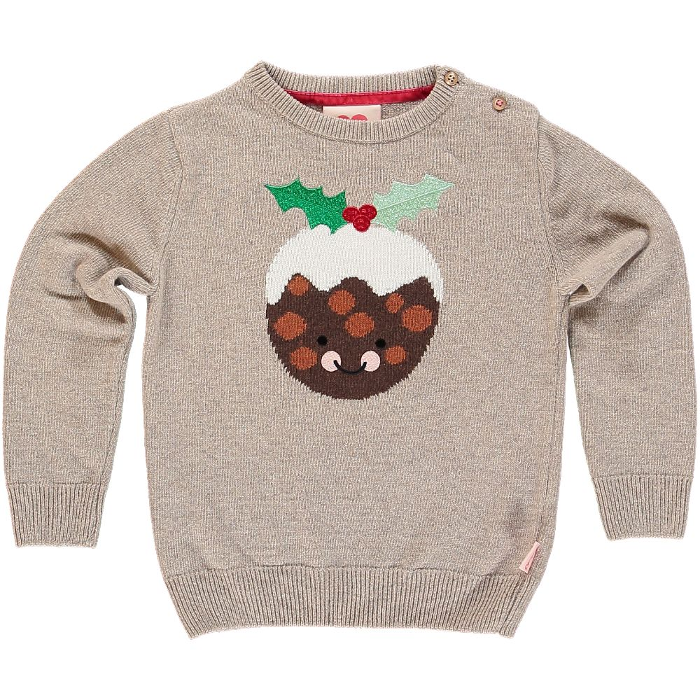 Tootsa MacGinty Xmas Pudding Jumper / Winter Wheat