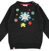 TOOTSA FOR CONRAN Christmas Jumper / Charcoal (Snowflakes)
