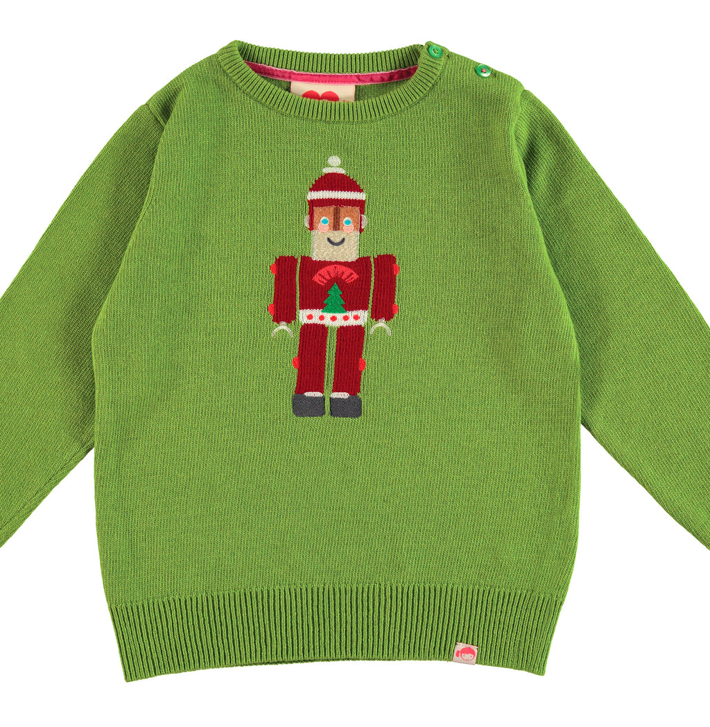 TOOTSA FOR CONRAN Christmas Jumper / Green (Santa Robot)