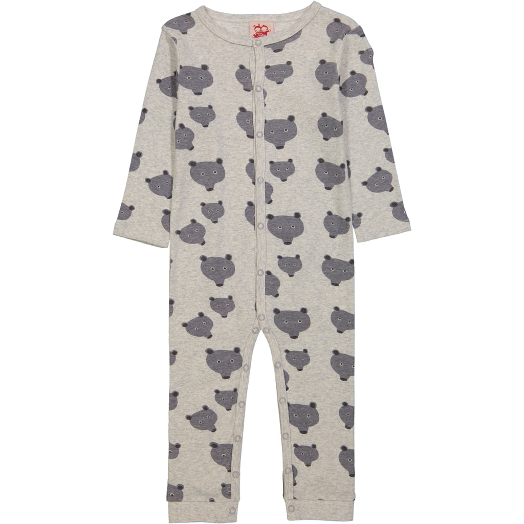 SASKATOON All over printed Tootsa Tots romper/Light Heather Grey (Bears)