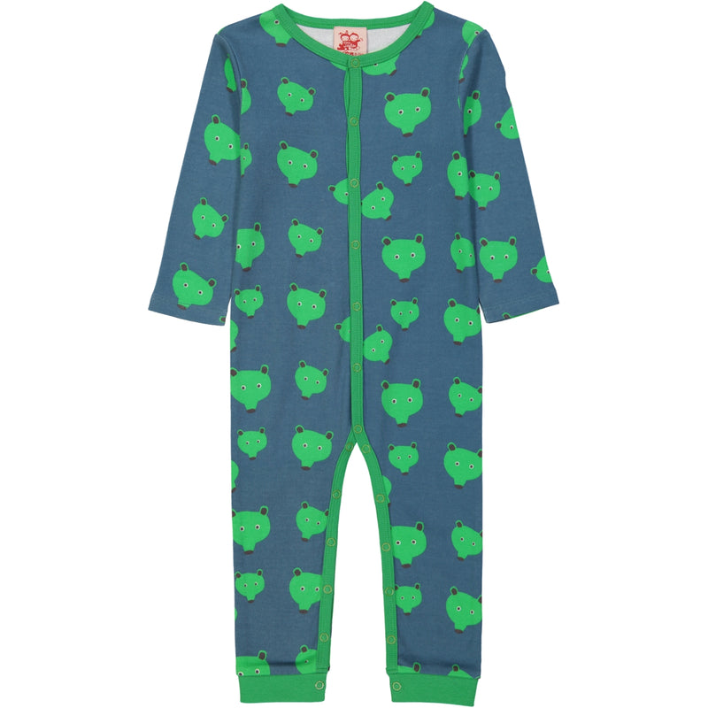 SASKATOON All over printed Tootsa Tots romper/Stormy Blue (Bears)