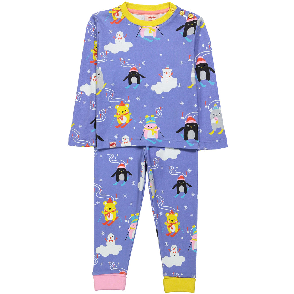 TOOTSA TOTS x NOODOLL All over printed organic cotton Pyjamas/Periwinkle Blue