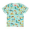 ULUWATU Tots Organic Cotton T-shirt/Aruba Blue (Surfers Stripe)