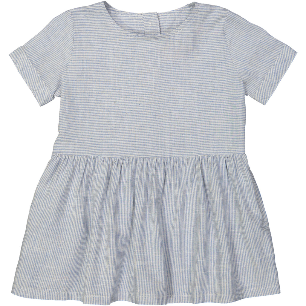 YOKOHAMA Tots Linen & Cotton Smock Dress/Periwinkle