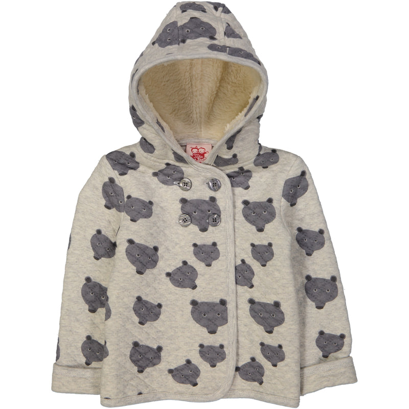 YUKON Tootsa Tots Quilted Hoody/Light Heather Grey (Bears)