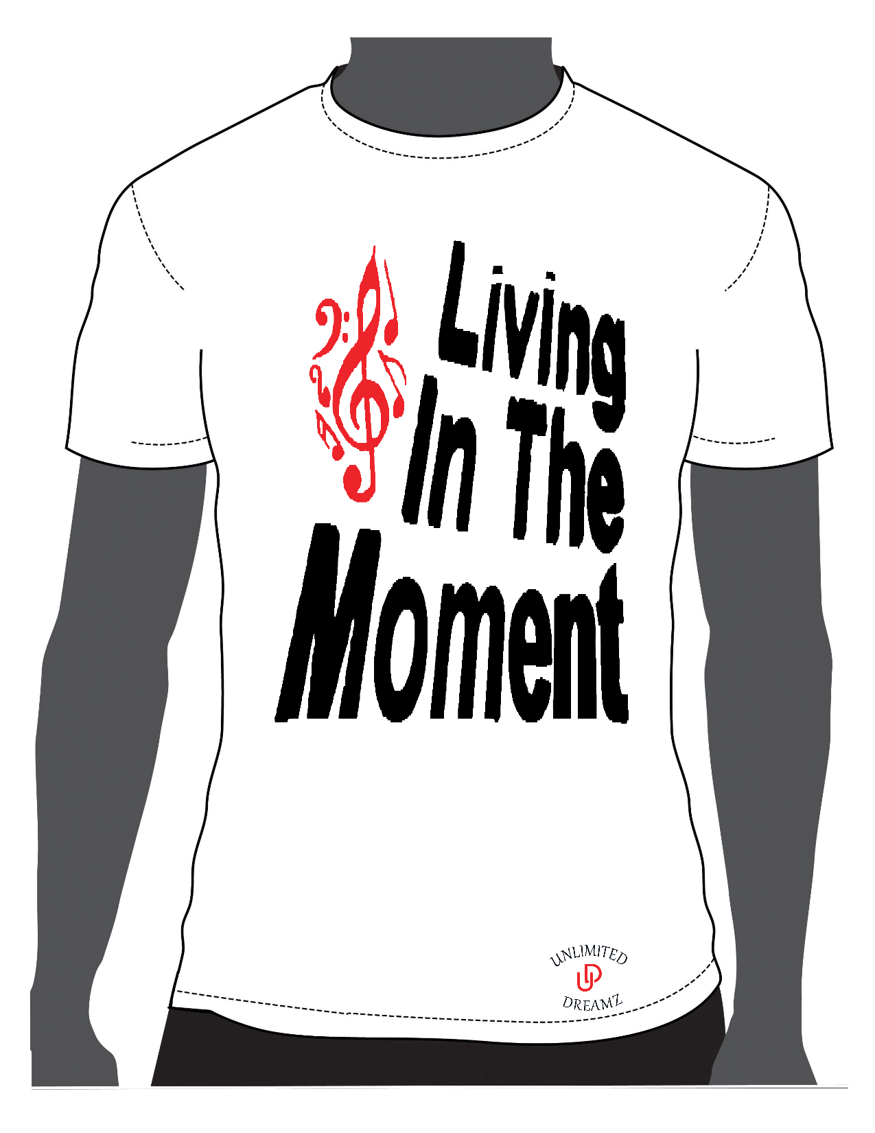 Living In The Moment - White Tee
