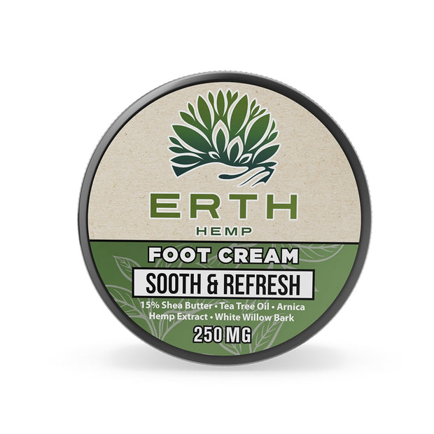 ERTH Sooth & Refresh CBD Foot Cream 250mg - SilverbackCBD