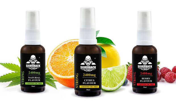 Silverback CBD Spray Berry Flavour Oil 2400mg- 30ml