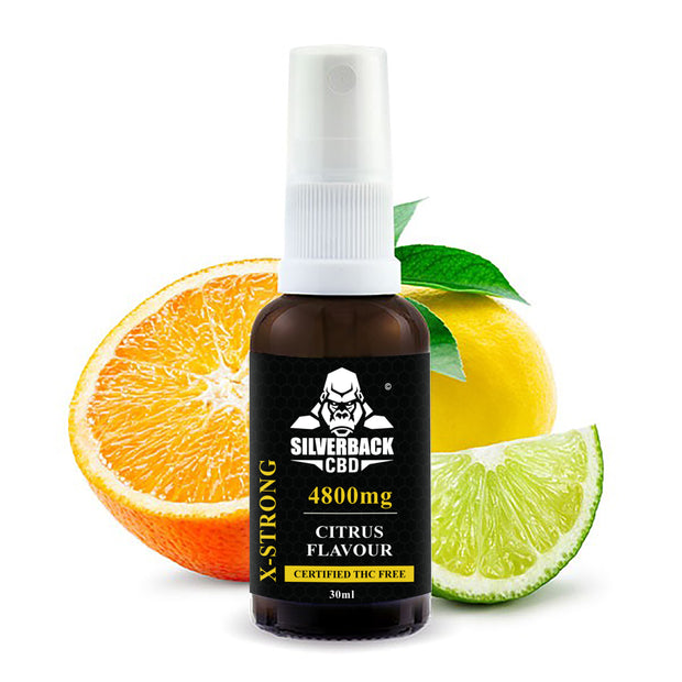 Silverback CBD Spray Citrus  Flavour Oil 4800mg- 30ml