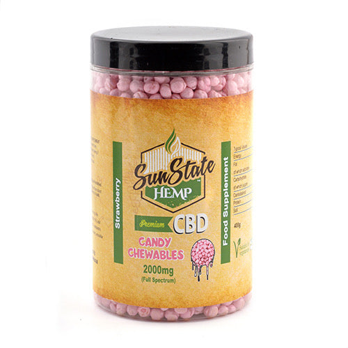 Sun State Hemp Full Spectrum Candy Chewables 2000mg – Strawberry