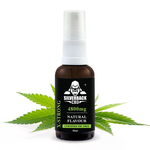Silverback CBD Spray Natural Flavour Oil 4800mg- 30ml