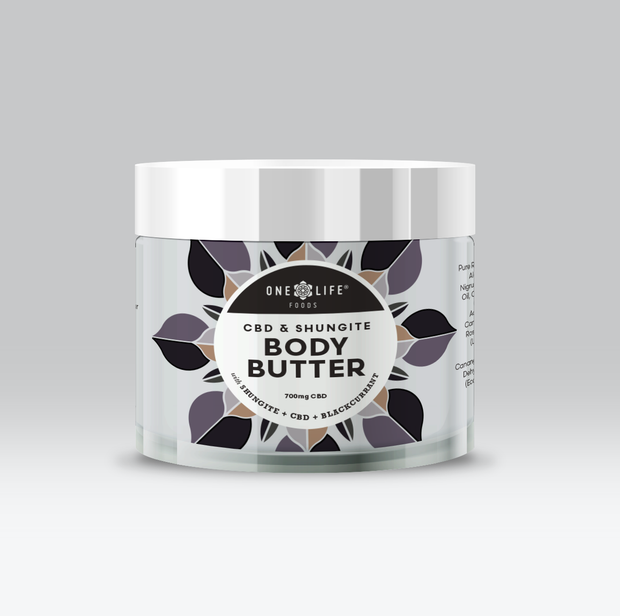 ONE LIFE FOODS CBD & SHUNGITE BODY BUTTER