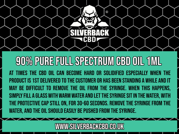 Silverback CBD 90% Pure Full Spectrum CBD Oil 1ml  Clearance Deals !!!! - SilverbackCBD