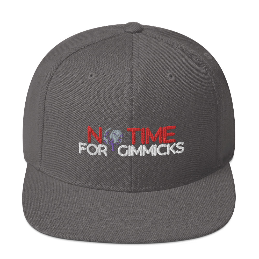 No Time For Gimmicks Snapback Hat Dark Version