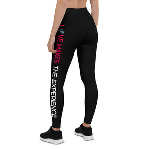 Love Makes The Experience Black Leggings
