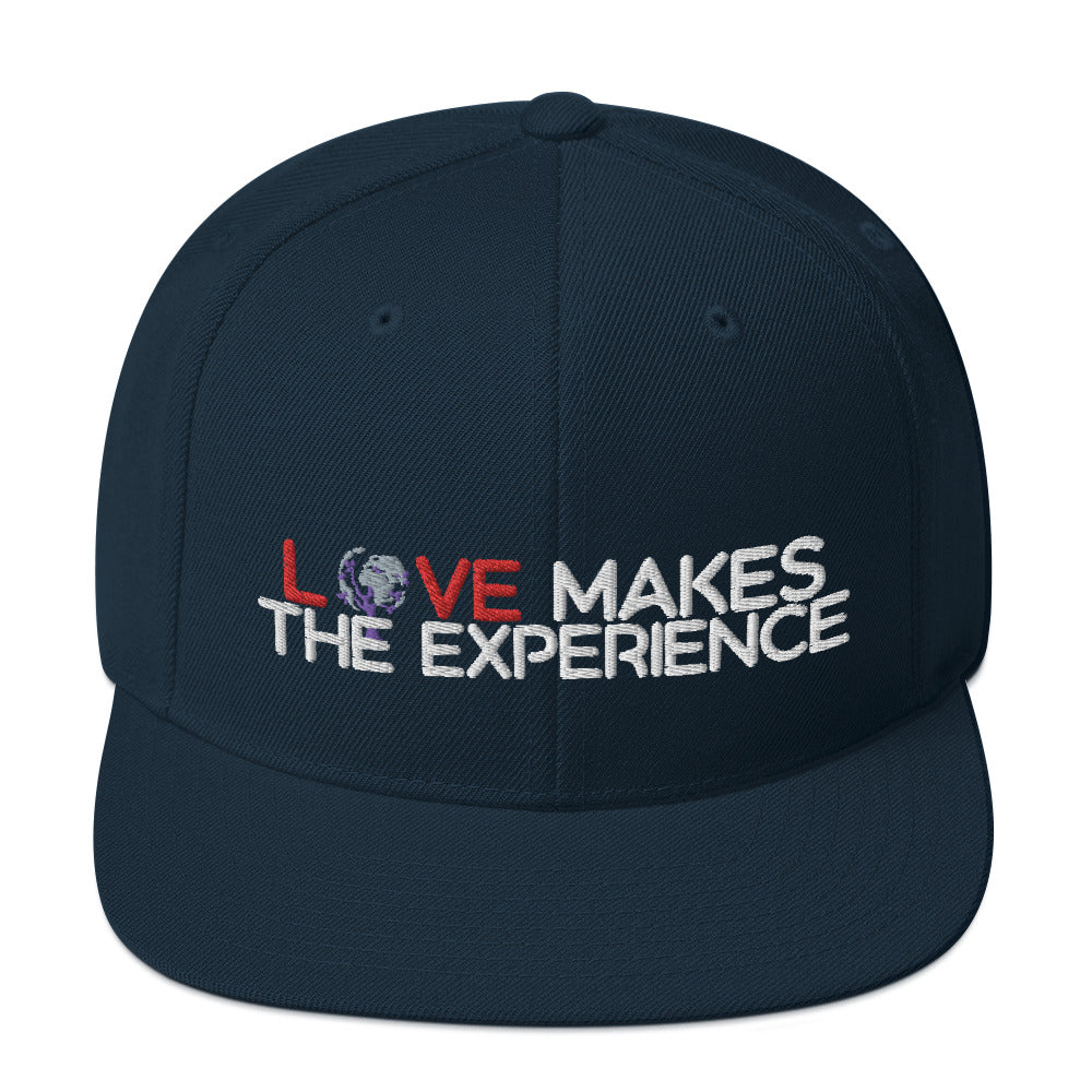 Love Makes The Experience Snapback Hat