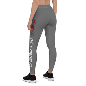 Love Makes The Experience Gray Leggings