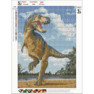 Diamond Painting - Full Round - Dinosaur