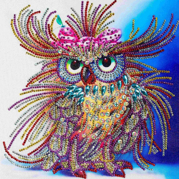Diamond Painting - Crystal Rhinestone - Owl