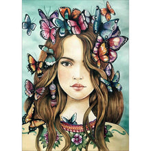 Load image into Gallery viewer, Diamond Painting - Full Round - Butterfly Girl