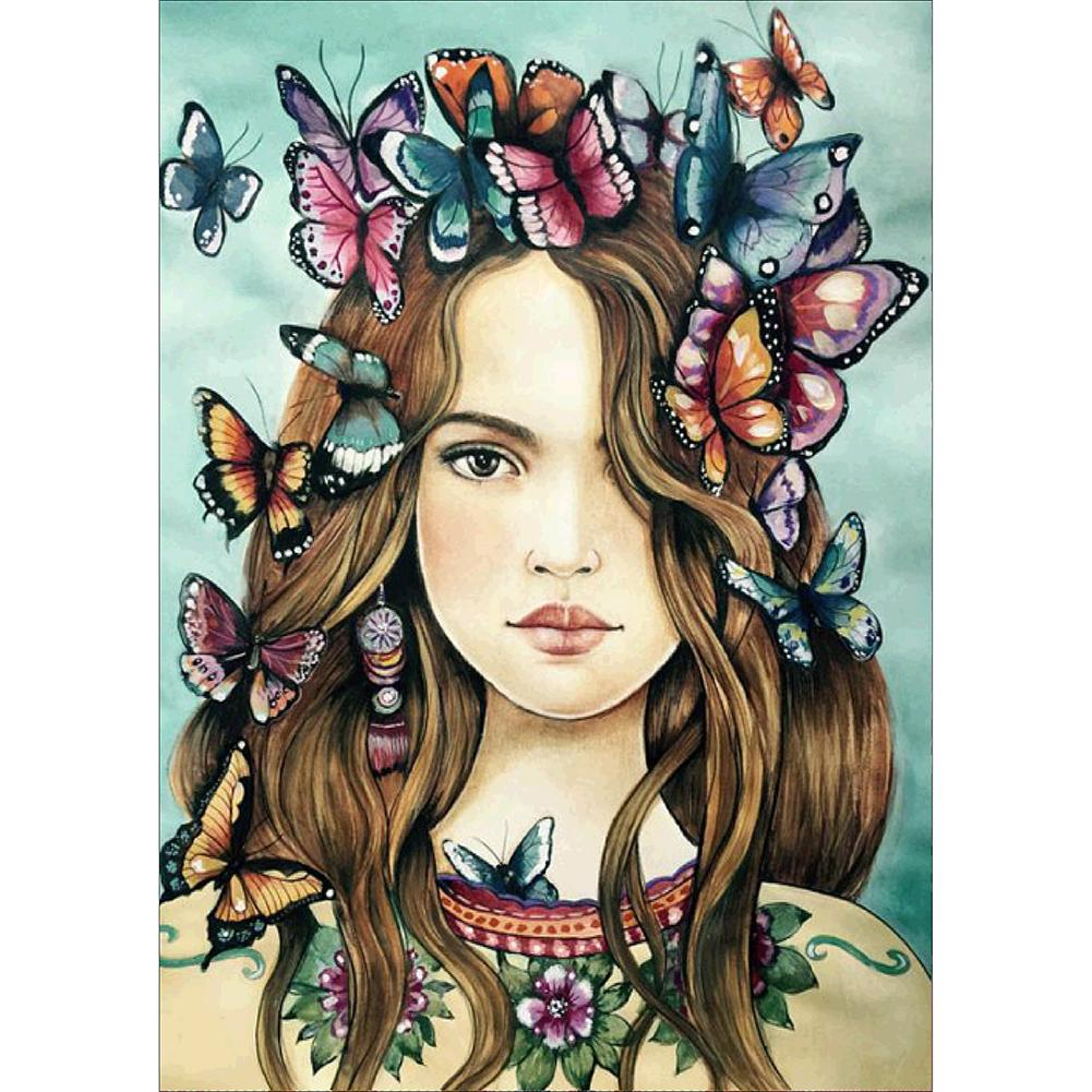 Diamond Painting - Full Round - Butterfly Girl