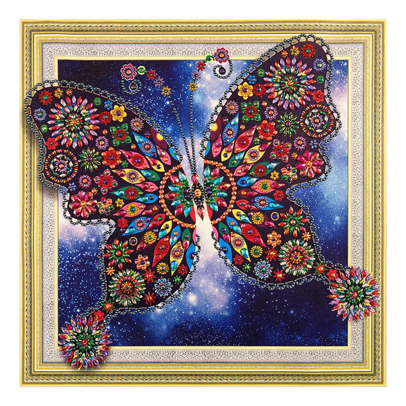 Diamond Painting - Crystal Rhinestone - Butterfly (40*40cm)