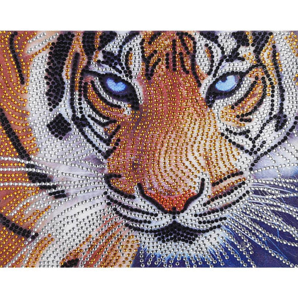 Diamond Painting - Crystal Rhinestone - Tiger