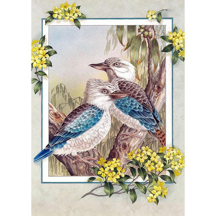 Diamond Painting - Full Square - 2 Birds