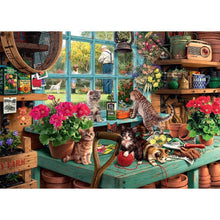 Load image into Gallery viewer, Diamond Painting - Full Square - Cats In Desk