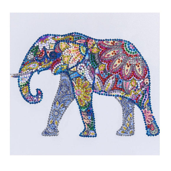 Diamond Painting - Crystal Rhinestone - Elephant