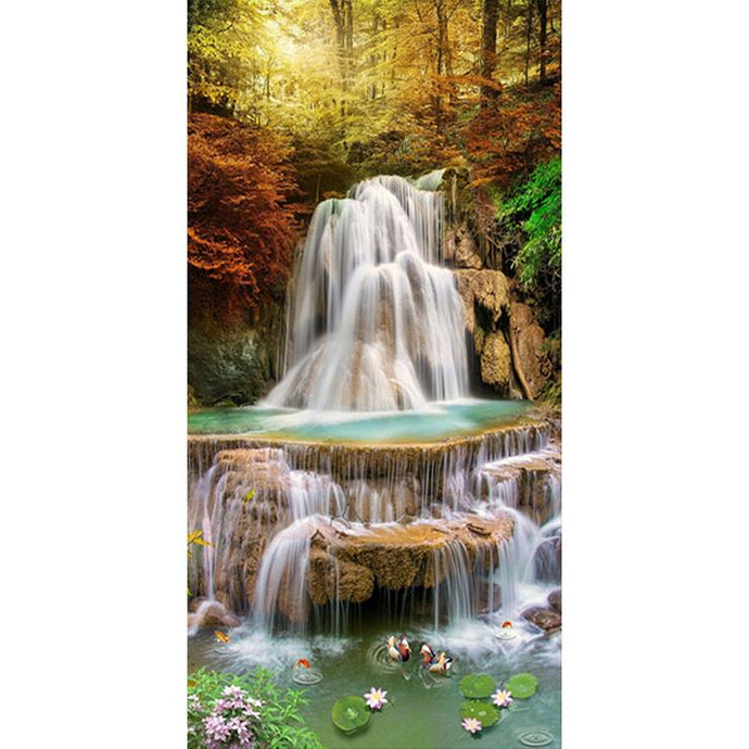 Diamond Painting - Full Round - Great Waterfall (85*45cm)