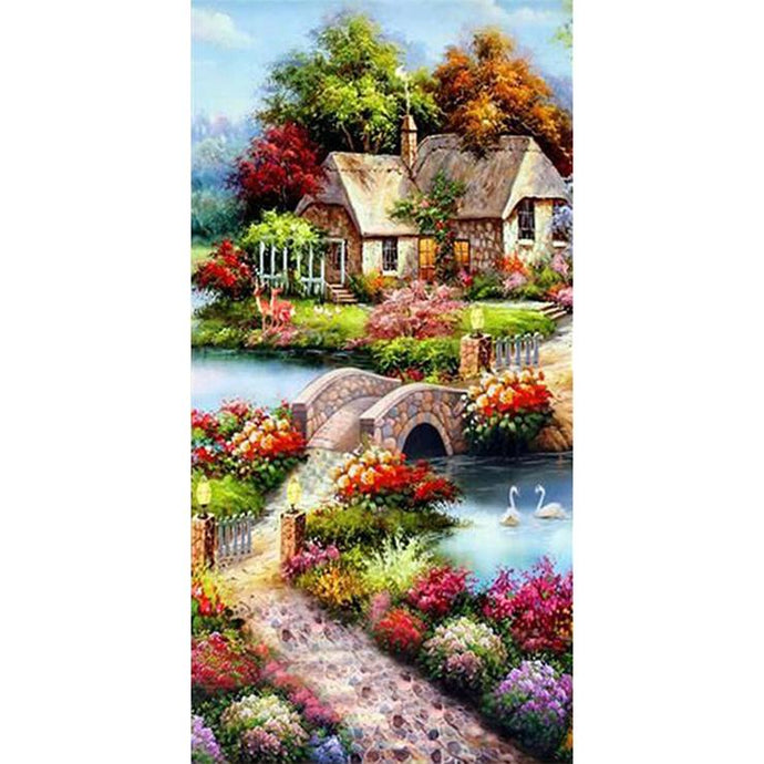Diamond Painting - Full Round - Beautiful Countryside (85*45cm)