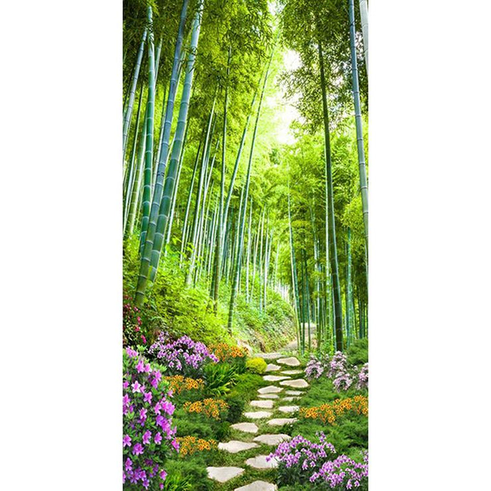 Diamond Painting - Full Round - Bamboo Forest Path (85*45cm)