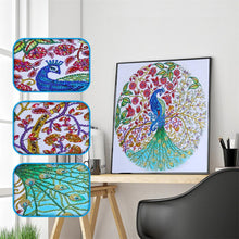 Load image into Gallery viewer, Diamond Painting - Crystal Rhinestone - Peacock(47*47cm)