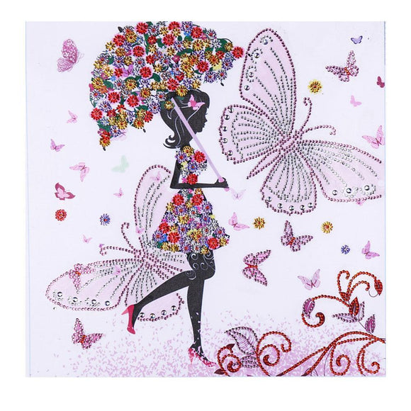 Diamond Painting - Crystal Rhinestone - Girl Flower Umbrella