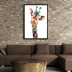 Diamond Painting - Partial Round - Giraffe