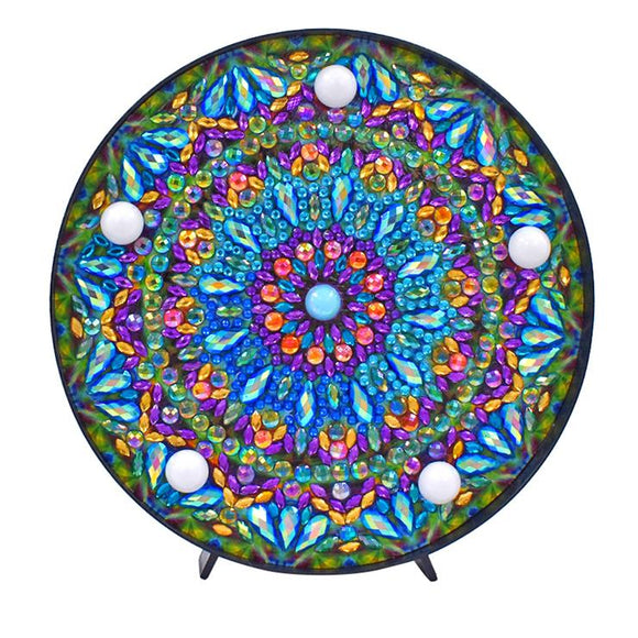 DIY Mandala Diamond Painting Light LED Lamp