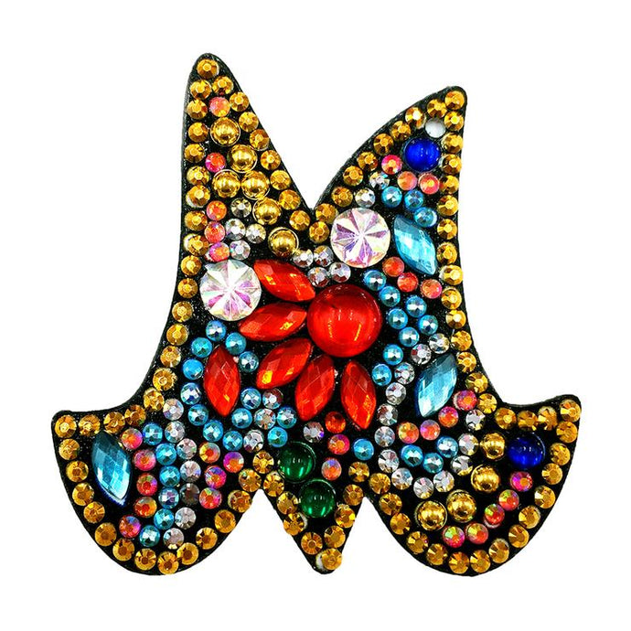 1 Pc DIY Diamond Painting Keychain - Letter M