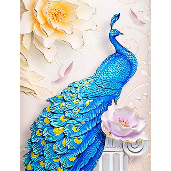 Diamond Painting - Crystal Rhinestone - Elegant Peacock