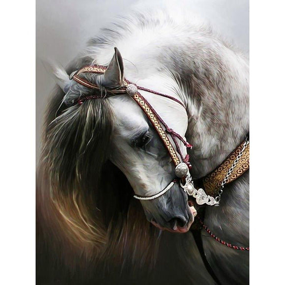Diamond Painting - Full Square - Gloomy Horse