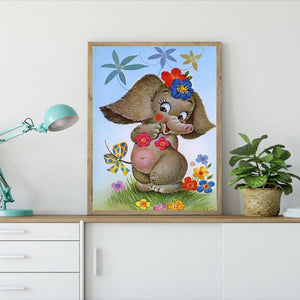 Diamond Painting - Full Round - Cartoon Elephant