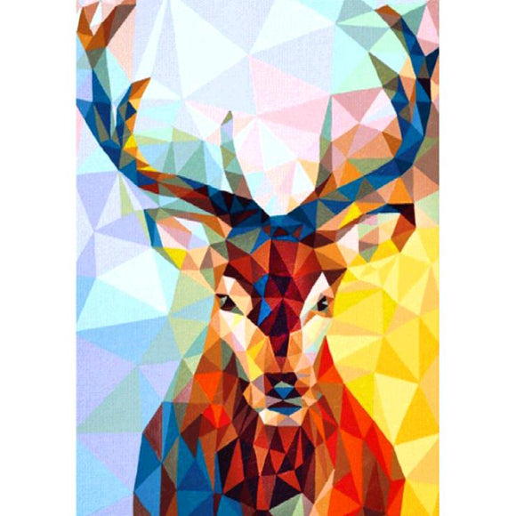 Diamond Painting - Full Square - Geometric Deer