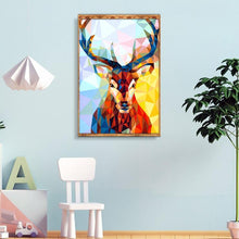 Load image into Gallery viewer, Diamond Painting - Full Square - Geometric Deer