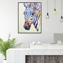 Load image into Gallery viewer, Diamond Painting - Partial Round - Zebra