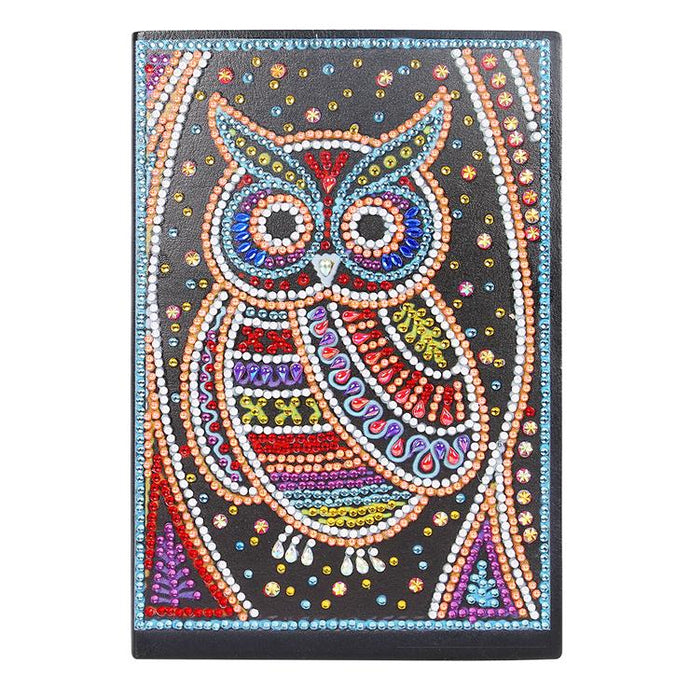 DIY Owl Special Shaped Diamond Painting 50 Pages A5 Notebook